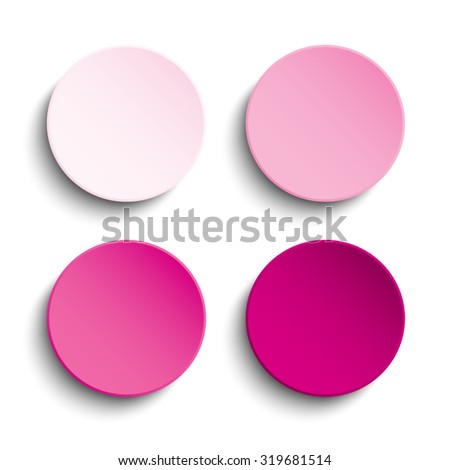 vector pink circle button on