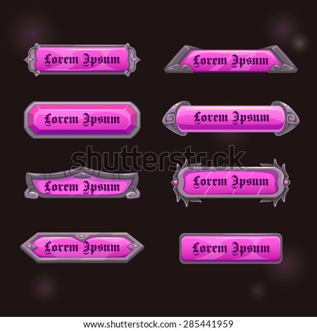 vector pink elements on dark