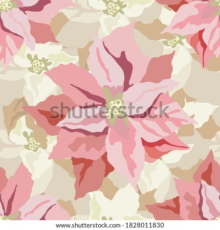 vector pink flowers seamless