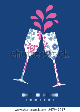 vector pink flowers toasting