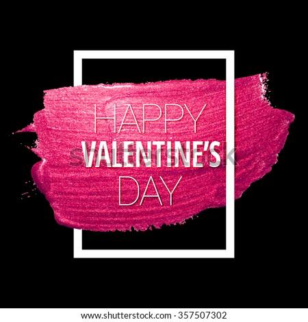 vector pink glitter heart love