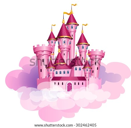 vector pink princess magic