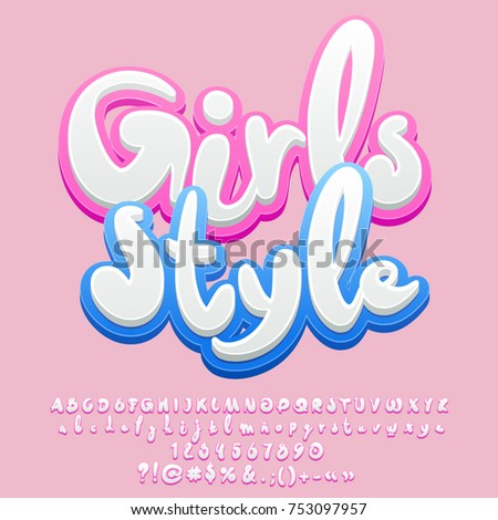 vector pink sweet banner girls