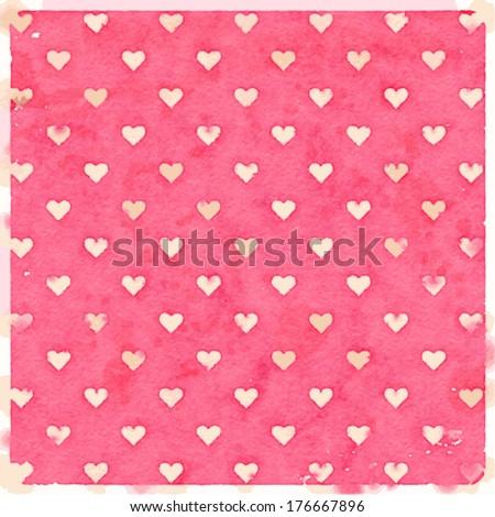vector pink watercolor