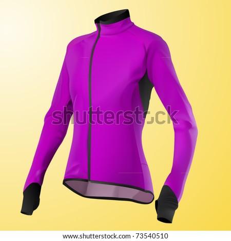 vector pink women's jacket