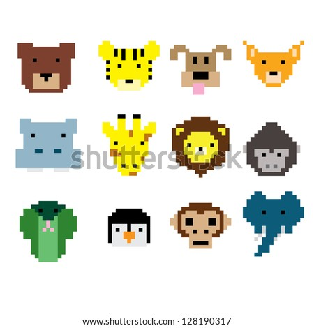 Animal Pixel Art