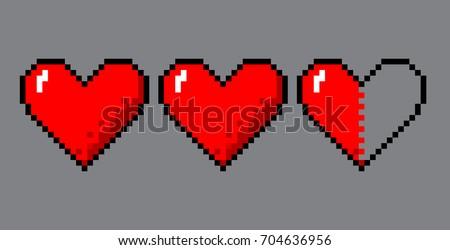 vector pixel art 8 bit style