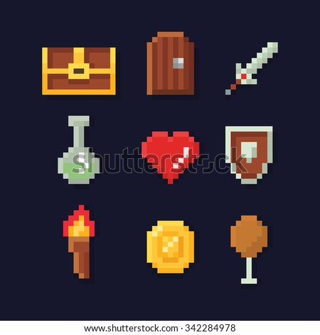 vector pixel art illustration