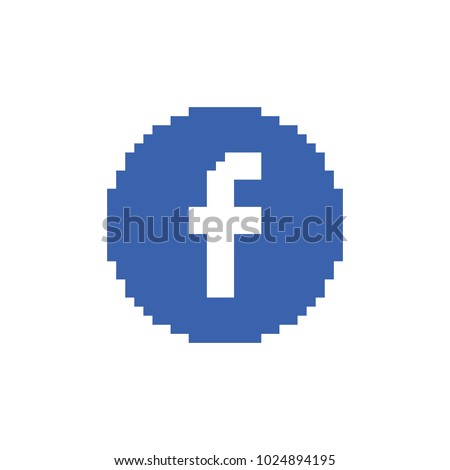 Vector pixel art  letter F. Flat web icon or sign isolated on white background.