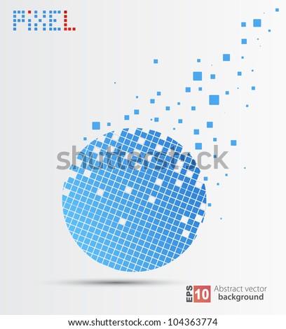 Vector pixel background.