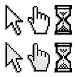 vector pixel cursors with real blurred shadow