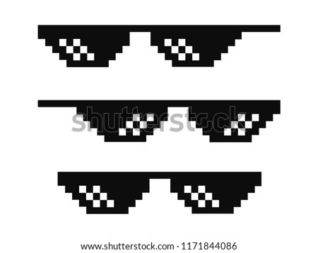 vector pixel glasses known as