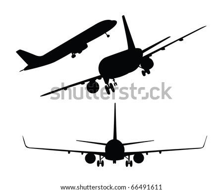 Vector plane silhouettes