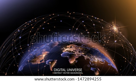 vector planet earth from space