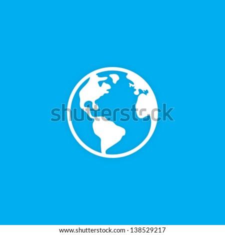 Vector Planet Earth Icon Symbol