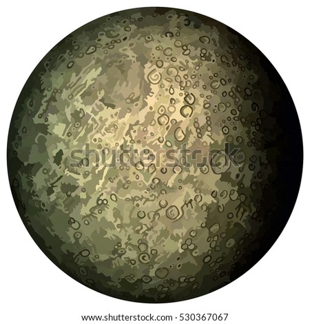 vector planet mercury located