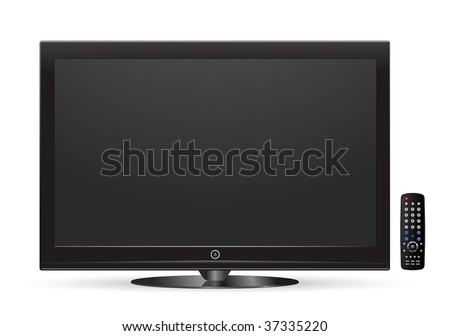 vector plasma lcd tv with remote control #37335220