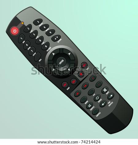 vector plastic black remote controller