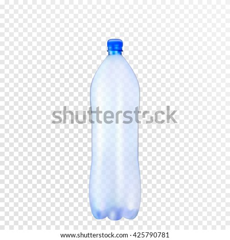 Vector plastic bottle.