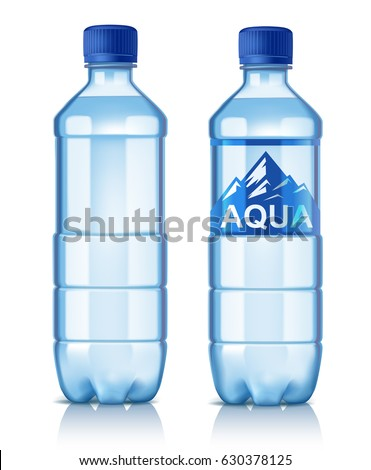 vector plastic bottle with