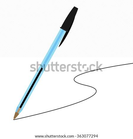 Vector Plastic pen