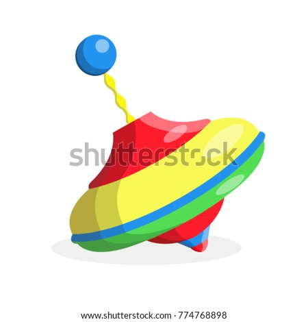 Vector plastic rotating, spinning whirligig or yule colorful baby toy icon. Kids education and development objects. Flat isolated illustration on white background.