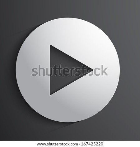 Vector play button background.