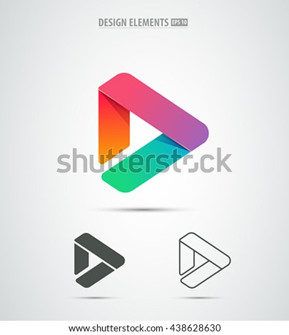 vector play icon video