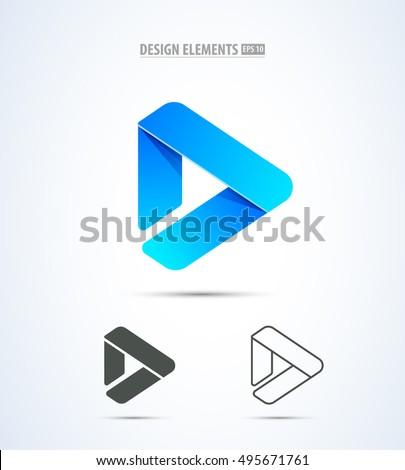 vector play logo icon video
