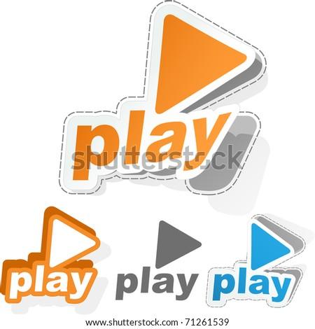 Vector play sticker set