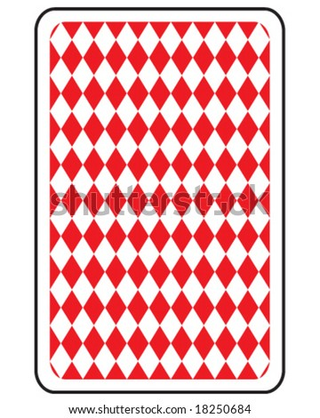 vector playing card reverse side
