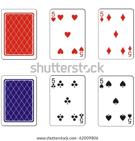 Vector. Playing card set 08