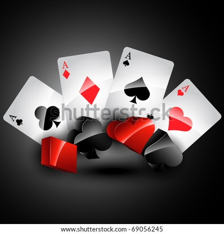 vector playing card stylish design