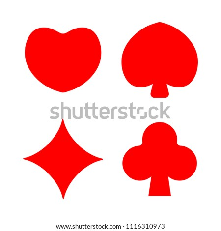 vector playing cards symbols, poker cards symbols vector