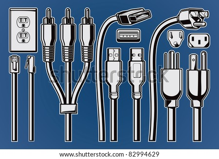 Vector Plugs and Cables.