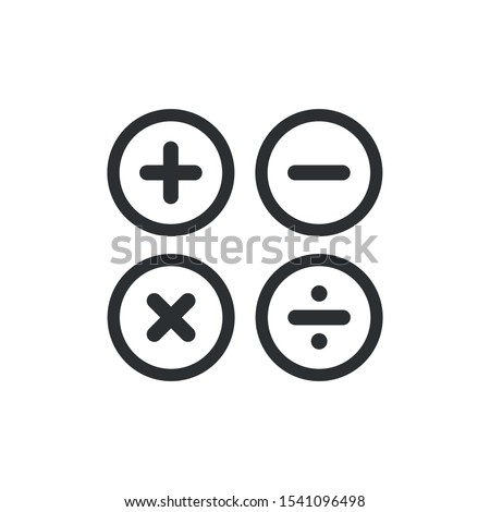 Vector plus and minus volume icons. Math add-on icon symbol Stock foto ©