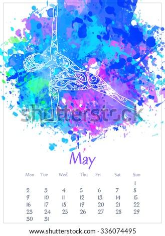 vector pocket color calendar