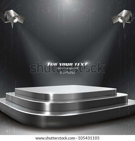 Vector Podium with Two Spotlights