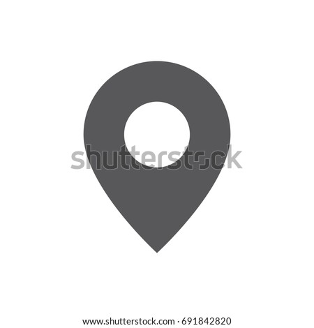 Vector POI - Point of interest icon marker used on maps. Geo point. Map Pin. Photo stock ©