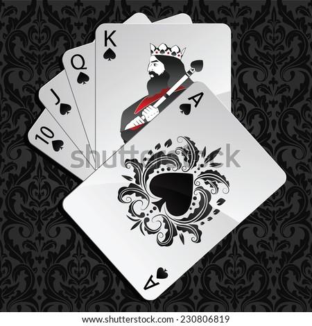 vector poker hand royal flush