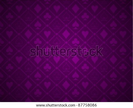 Vector Poker Purple Background