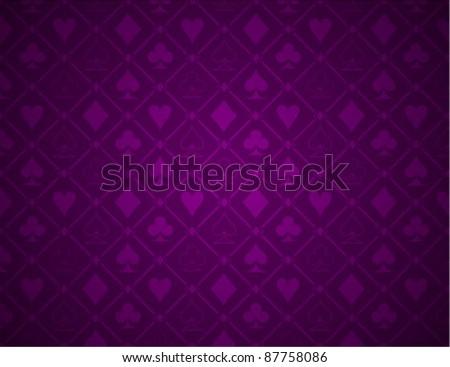 Vector Poker Purple Background