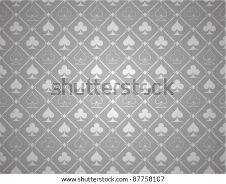 Vector Poker Silver Background