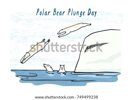 vector polar bear plunge day