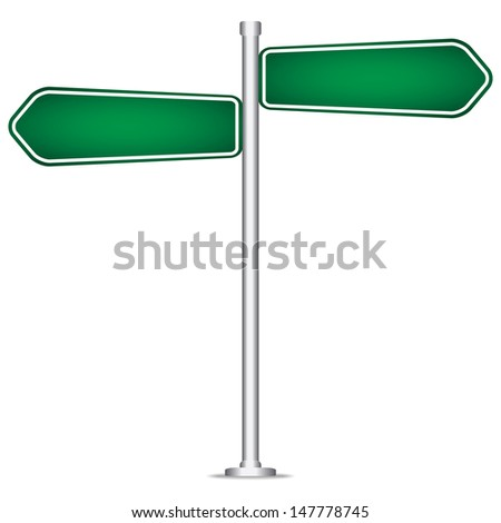 vector pole sign road blank