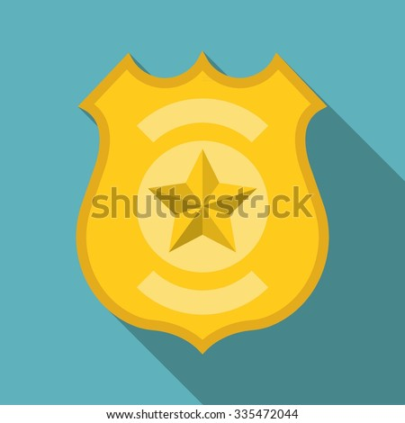 Vector police badge, flat design