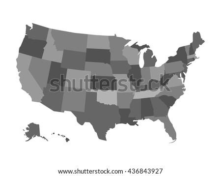 vector political usa map