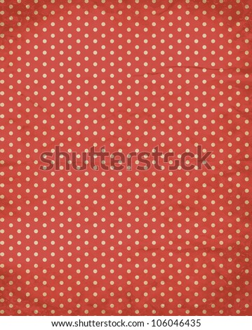 vector polka dot retro old paper background