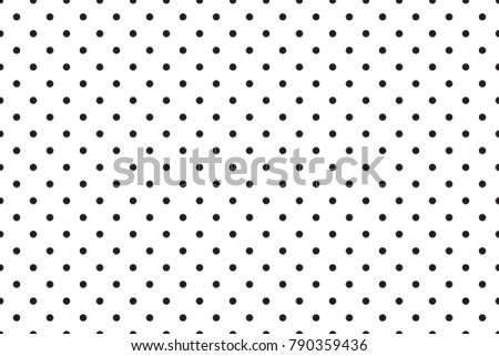 Vector polka dots pattern. Dots background.