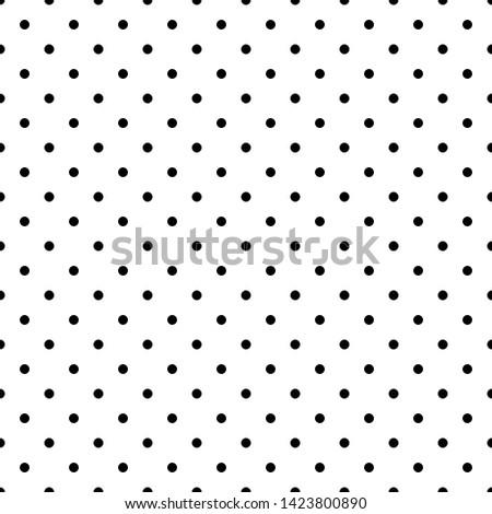 Vector polka dots pattern. Dots gray background.